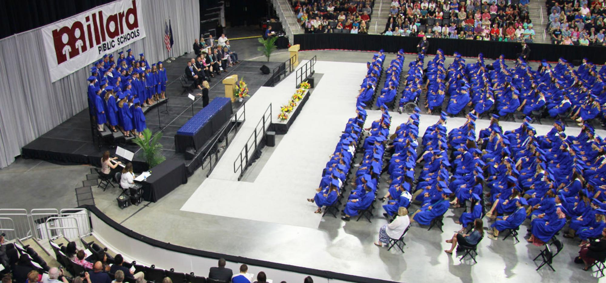 high school graduation ceremony